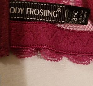Body Frosting Intimates & Sleepwear - NWOT  40 C Maroon colored   Body Frosting Bra
